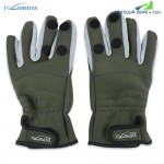 TSURINOYA Paired Warm Water Resistant Full Finger Glove for Outdoor Fishing