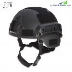 JJW Tactical Military Airsoft Paintball Helmet with Mount Rail