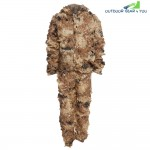 3D Bionic Leaf Camouflage Jungle Hunting Ghillie Suit Set Woodland Sniper Birdwatching Poncho
