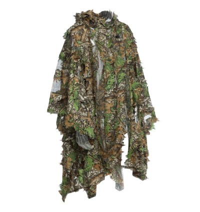 3D Camo Bionic Leaf Camouflage Jungle Hunting Ghillie Suit Set Woodland Sniper Birdwatching Poncho Manteau