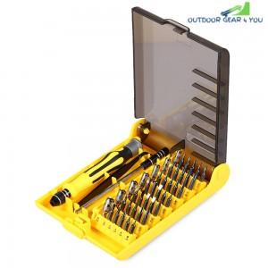 6089A 45 in 1 Interchangeable Screwdriver Tool Set with Tweezer Hard Extension Shaft