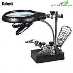 Beileshi 5 LEDs Light 10X Magnifier Desk Lamp
