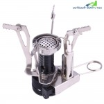 Outlife Camping Gas Burner Foldable Integrated Stove Head with Adjustable Switch