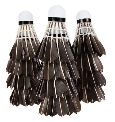 12pcs Portable Black Duck Feather Training Badminton Balls Shuttlecocks Sport