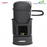 ALOCS CW - C01 Portable  1 - 2 Person 7pcs Camping Cook Set for Outdoor Hiking Picnic