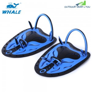 Whale Paired Unisex Swimming Adjustable Paddles Fins Webbed Training Pool Diving Hand Gloves