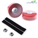 Lightweight Handlebar Tape with Bar Plug Carbon Fiber Belt Strap