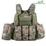 Tactical Military Battle Combat Airsoft Molle Bullet Assault Plate Carrier Vest