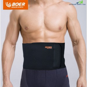BOER Sport Breathable Adjustable Waist Back Belt Support Lumbar Band Protective Gear