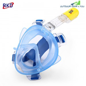 RKD Anti Fog Detachable Dry Snorkeling Full Face Mask Set