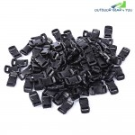 100pcs | Lot Outdoor Survival Paracord Bracelet Accessory Curved Plastic Button Buckle