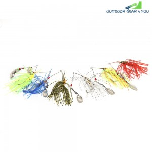 6pcs Fishing Lure Bait Crankbait Tackle Hook with Paillette Beard