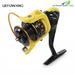 LIEYUWANG 10BB Spinning Fishing Reel with Exchangeable Handle for Casting Line