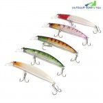 5pcs Hard Fish Shape Artificial Crank Bait Outdoor Fishing Equipment