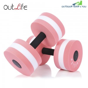 Outlife 2pcs Fitness Pool Exercise EVA Aquatics Dumbbell