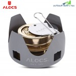 Alocs Portable Mini Spirit Burner Alcohol Stove for Outdoor Backpacking Hiking Camping
