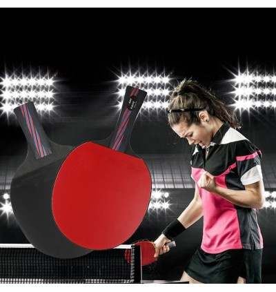 BOER Lightweight Table Tennis Ping Pong Racket Paddle