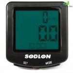 Sodlon SD - 571 Versatile 30 Functions LCD Backlight Bike Computer Water Resistant Cycling Odometer Speedometer