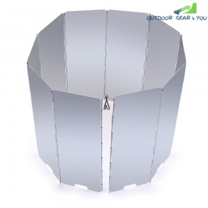 10 Plates Aluminum Alloy Outdoor Foldable Camping Cooker Stove Wind Screen Windshield