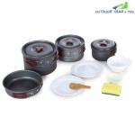 AOTU AL500 Outdoor Cookware Set Aluminum Alloy Made
