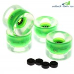 4pcs 60 x 45mm LED Transparent Skateboard Wheels