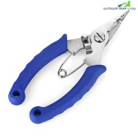 FG - 1036A Rubber Handle Fishing Plier Braid Cutter (BLUE)