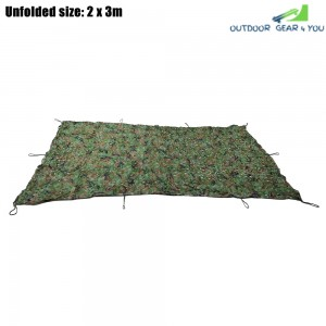 2M x 3M Woodland Military Hunting Camping Tent Car Cover Awning Shelter Sunshade Camouflage Net