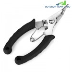 FG - 1036A Rubber Handle Fishing Plier Braid Cutter (BLACK)