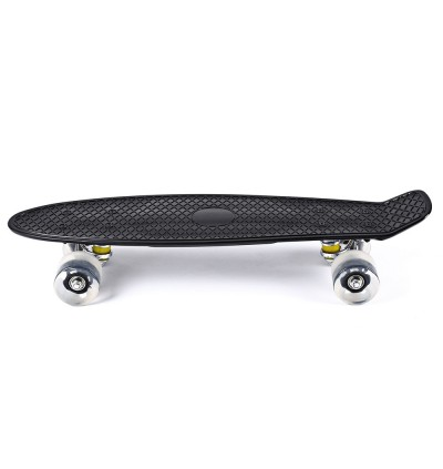 22 Inches Mini Cruiser Banana Style Longboard Pastel Color Board with LED Flashing Wheels