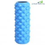 Gym Fitness Yoga EVA Column Roller with Grid(BLUE)
