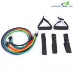 LEAJOY 11pcs | Set Natural Rubber Fitness Resistance Bands Practical Elastic Training Rope