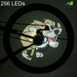 FT - 801 256 LEDs DIY Bicycle Waterproof Colorful Changing Video Pictures Bike Wheel Spoke Light