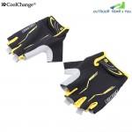 CoolChange Pair of Shock-absorbing Foam Pad Half Finger Bike Glove