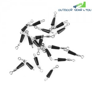 20pcs Number 12 Stainless Steel Fishing Hook Rolling Swivels Line Connector