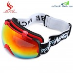Be Nice 2084 Unisex Spherical Anti-fog Dual Lens Snowboard Skiing Goggle Eyewear