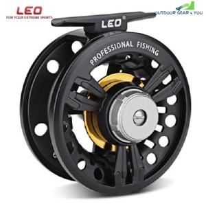 LEO FB - 85 2 + 1BB Aluminum Alloy Ice Fly Fishing Reel (BLACK)