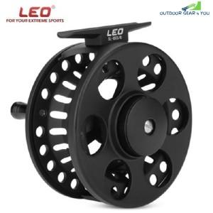 LEO 1 Ball Bearing Aluminum Alloy Ice Fly Fishing Reel (BLACK)