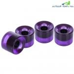 4pcs 60 x 45MM Outdoor Transparent PU Skateboarding Wheel (Purple)