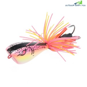Artificial Frog Lure ABS Plastic Hard Fishing Bait (PINK)
