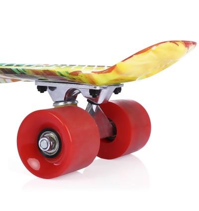 22 inch Printing Pattern Four-wheel Street Long Fish Skateboard