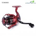 YUMOSHI 13 + 1BB Metal Spinning Reel Fishing Tackle with Foldable Handle(XF3000 RED)