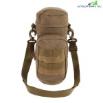 Outdoor Water Bottle Pouch Tactical Kettle Chest Shoulder Bag (LIGHT BROWN)