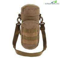 Outdoor Water Bottle Pouch Tactical Kettle Chest Shoulder Bag (LIGHT BROWN)