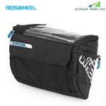 ROSWHEEL 111271 3L Bicycle Front Tube Map Bag Cycling Pouch(Black)