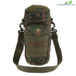 Outdoor Water Bottle Pouch Tactical Kettle Chest Shoulder Bag (JUNGLE CAMOUFLAGE)