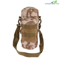 Outdoor Water Bottle Pouch Tactical Kettle Chest Shoulder Bag (DESERT CAMOUFLAGE)
