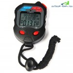PC560 3 Rows 60 Memories LCD Digital Sports Stopwatch with Calendar Alarm Function