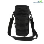 Outdoor Water Bottle Pouch Tactical Kettle Chest Shoulder Bag (BLACK)