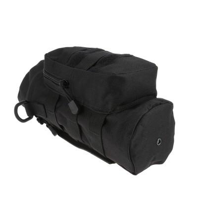 Outdoor Water Bottle Pouch Tactical Kettle Chest Shoulder Bag (BLACK)