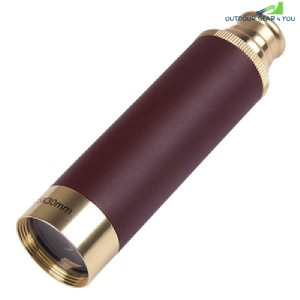 MaiFeng 25 x 30 Roof BAK - 4 Prism Monocular Brass Color Pirate Style (BRASS)